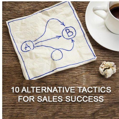 10 alternative tactics for sales success, call centre services