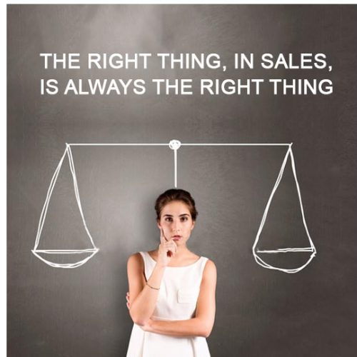 Telemarketing blog from Forrest Marketing Group, Why doing the right thing in sales is always the right thing