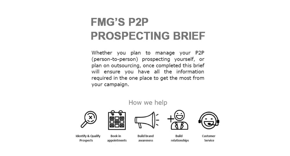 Forrest Marketing Group P2P prospecting brief