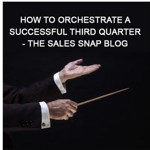 How to orchestrate a successful third quarter - The Sales Snap Blog
