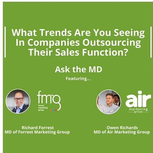 Trends In Outsourcing Sales Function